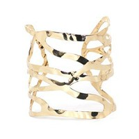 A&#x27;GACI Caged Pounded Metal Cuff - New Arrivals