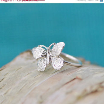 Fall Sale Butterfly Ring - Sterling Butterfly - Silver Butterfly - Sterling Ring - Butterfly Jewelry - Butterflies