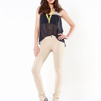A'GACI French Terry 4 Pocket Skinny Pant - Bottoms