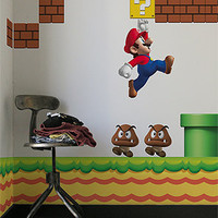 The Nintendo New Super Mario Bros Re-Stik Wall Decal