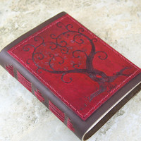 Twisted Love Tree Leather Journal, diary, notebook, sketchbook CUSTOM ORDER