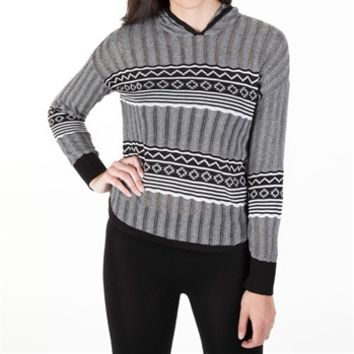 Absolutely Juniors Pointelle Knit Hooded Tee at Von Maur