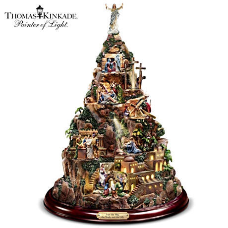"Thomas Kinkade ""Story Of Christ"" Illuminated Sculpture"