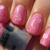 Bubble Gum : Custom-Blended Nail Polish Glitter Nail Polish