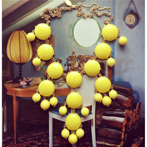 Pree Brulee - Yellow Amborella Necklace