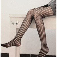 Linear and Lattice Tights - Retro, Indie and Unique Fashion