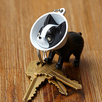 Boston Terrier LED Keychain