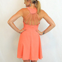 Ray Of Light Dress in Salmon -  $44.00 | Daily Chic Dresses | International Shipping