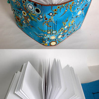 Effervescent Blue - Fabric Journal - Bubbles of Blue