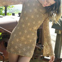 Nightcap Clothing Priscilla Iris Lace Dress in Burlap - What's New