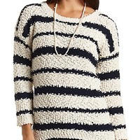 Popcorn Knit High-Low Tunic Sweater by Charlotte Russe