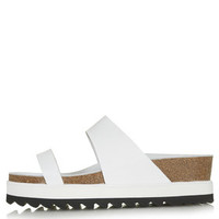 ELECTRIC Footbed Sandals - White