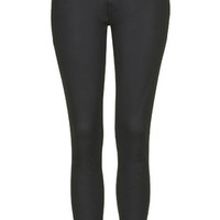 MOTO Tencel Coated Leigh Jeans - Black