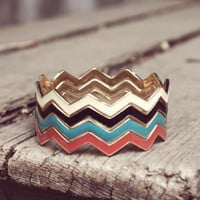 Chevron Stacks Bracelet, Sweet Affordable Jewelry