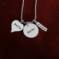 SMILE DREAM HOPE Hand stamped necklace (other pieces can be customized/personalized)