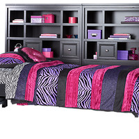 Cottage Colors Black 5 Pc Twin Bookcase Wall Bed