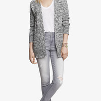 HIGH WAISTED CONTRAST STITCH JEAN LEGGING from EXPRESS