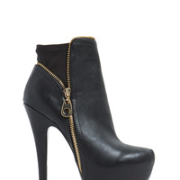 Zipped Into Shape Platform Booties