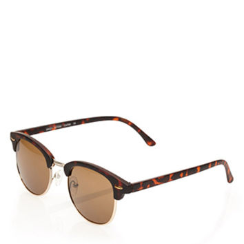 Tortoise Clubmaster Sunglasses Brown One