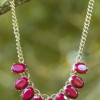 Charmed, I'm Sure Necklace-Oxblood