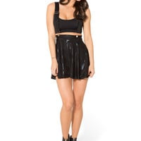 TRIANGLE BLACK PINAFORE SKATER SKIRT - LIMITED