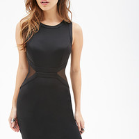FOREVER 21 Mesh-Paneled Bodycon Dress