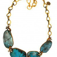 Raw Turquoise Short 5 Necklace - Necklaces - The Passionate Collector