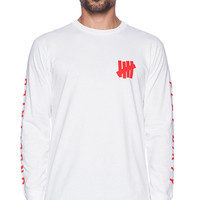 Undefeated Official L/S Tee in White