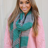 Packin' Up In Plaid Scarf: Multi - One