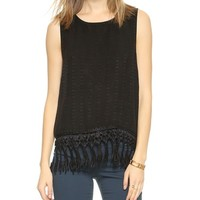 LIV Tank with Lace Trim