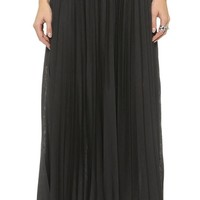 Theory Pleated Jersey Miklo Skirt