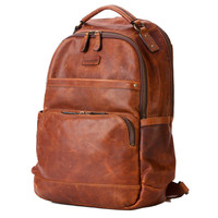 Tan All-Leather Classic Backpack by Frye - Tan All-Leather Classic Backpack by Frye