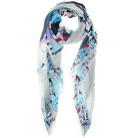 Printed jersey scarf