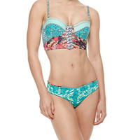 Cockatoo Printed Bustier Swim Top & Swim Bottom