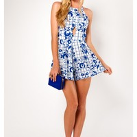 Frost Apple Pancakes Playsuit- Mix Blue