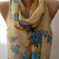 Dance of the Colors Collection - Infinity - Loop - Circle - Elegant - Chiffon - Feminine - Summer - Shawl - Scarf