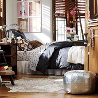 Goodnight Cheetah Duvet Cover + Sham, Twin, Black