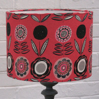 Winter's Moon ? Tablelamp Shade in Annabel Grey Pink & Black - SOLD