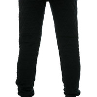 The Box Quilt Sweatpants in Black