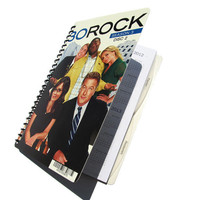 30 Rock 2012 2013 Planner / Calendar Upcycled Liz Lemon Academic Agenda