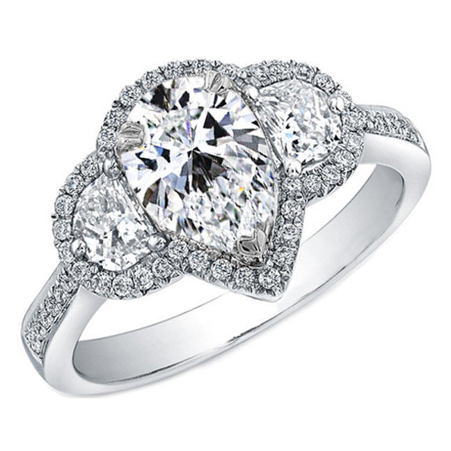 Halo Ring Halo Ring Settings For Pear Shaped Diamond