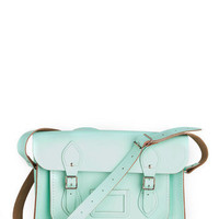 Upwardly Mobile Satchel in Mint - 13"