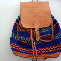 Vintage Tribal Backpack Indian Native Southwest