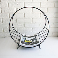 Vintage Circle Magazine Stand by kibster on Etsy