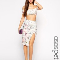 ASOS PETITE Exclusive Scuba Pencil Skirt in Print