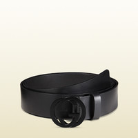 Gucci - leather belt with interlocking G buckle 368186BGH0V1000
