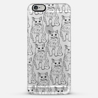 Cat Obsession Transparent iPhone 6 Plus case by Allyson Johnson | Casetify
