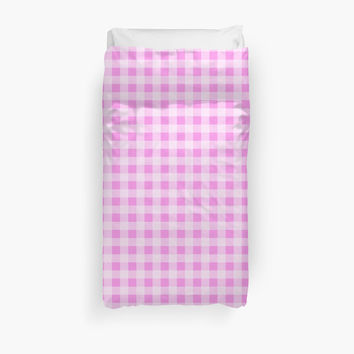Checkered Gingham Pattern (Squared Pattern) - Pink