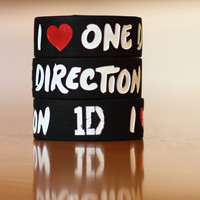 I Love One Direction Wristband Bracelet 1 Inch Wide