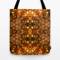 Christmas Goes Gold Tote Bag by Louisa Catharine Design